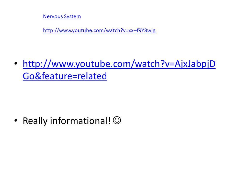 http://www.youtube.com/watch?v=AjxJabpjD Go&feature=related http://www.youtube.com/watch?v=AjxJabpjD Go&feature=related Really informational! Nervous