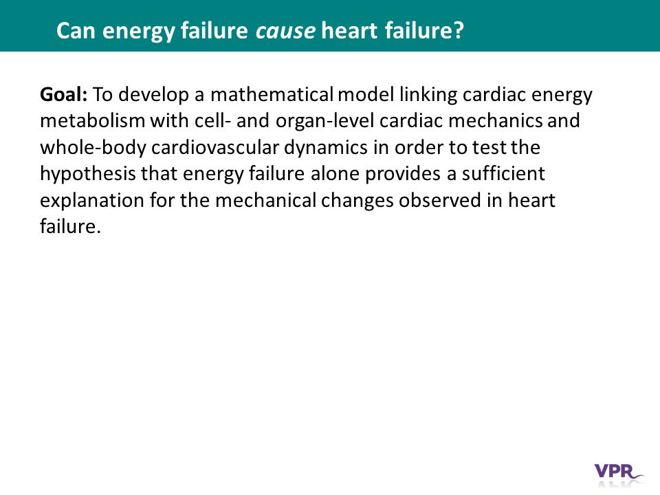 Can energy failure cause heart failure.