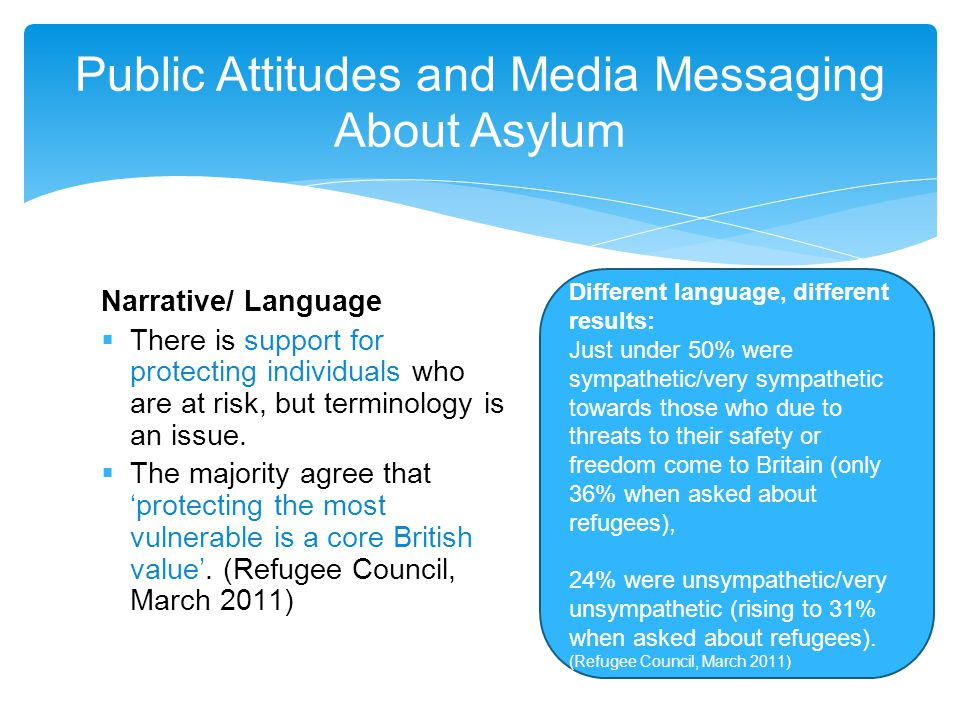 Narrative/ Language  There is support for protecting individuals who are at risk, but terminology is an issue.