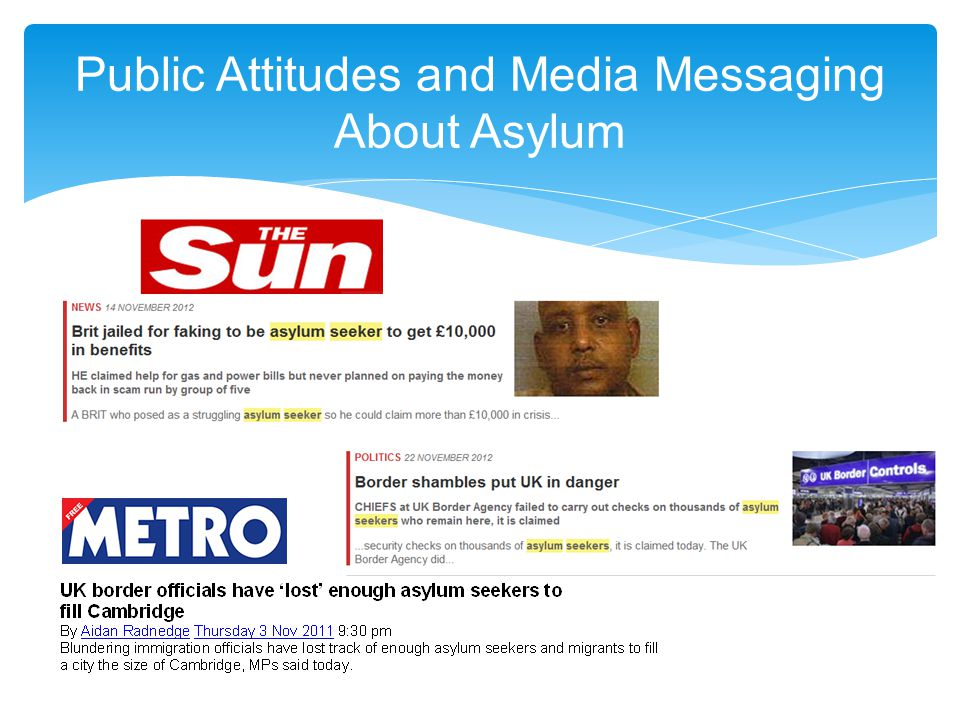 Public Attitudes and Media Messaging About Asylum