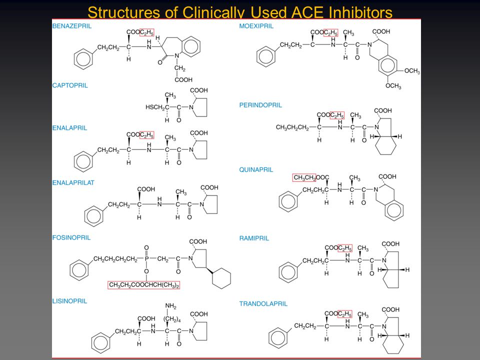 Additional Beneficial Effects of ACE Inhibitors Cardioprotective Reduce incidence of second heart attack Reduce cardiovascular complications in patients with risk factors Reduce incidence of diabetes in high risk patients Reduce complications in diabetic patients