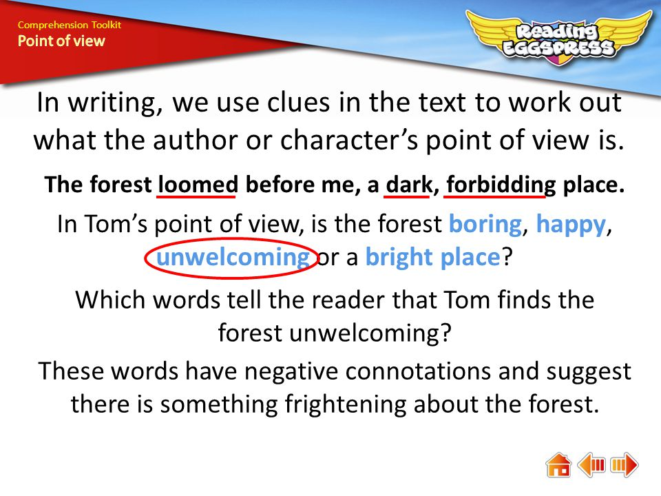 Comprehension Toolkit What about Finn's point of view.