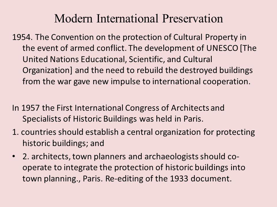 Modern International Preservation 1954.