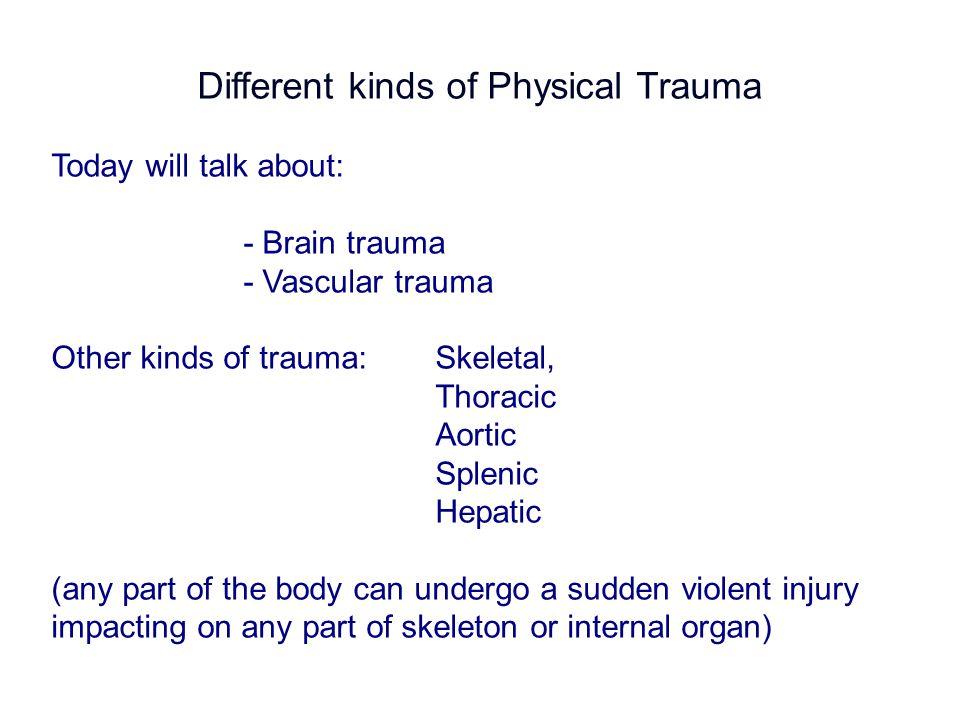What causes major trauma?
