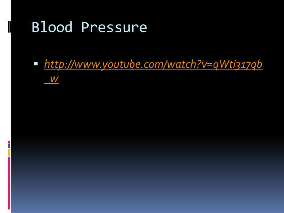 Blood Pressure  http://www.youtube.com/watch?v=qWti317qb _w http://www.youtube.com/watch?v=qWti317qb _w