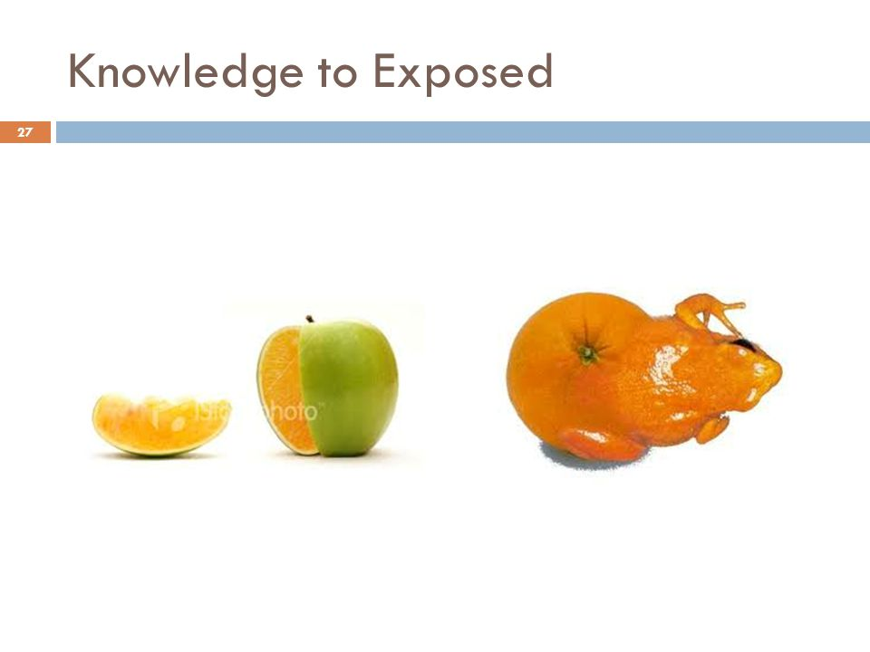 Knowledge to Exposed 27