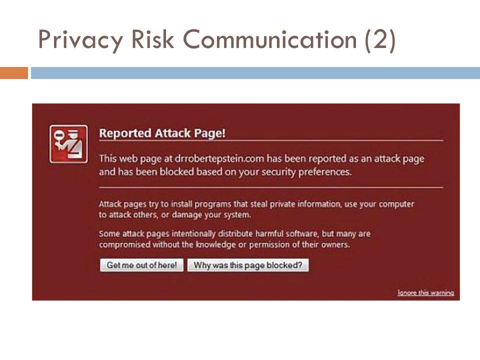 Privacy Risk Communication (2)