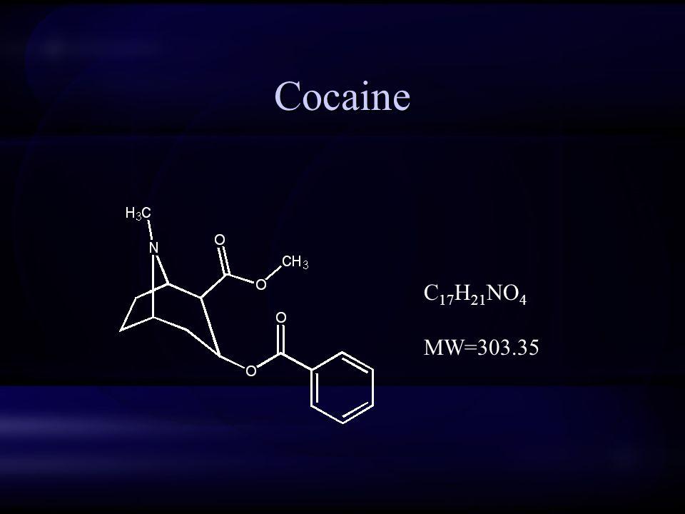 Cocaine C 17 H 21 NO 4 MW=303.35