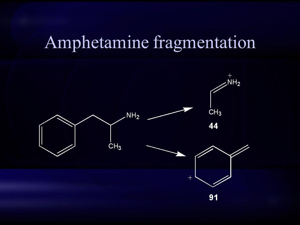 Amphetamine fragmentation