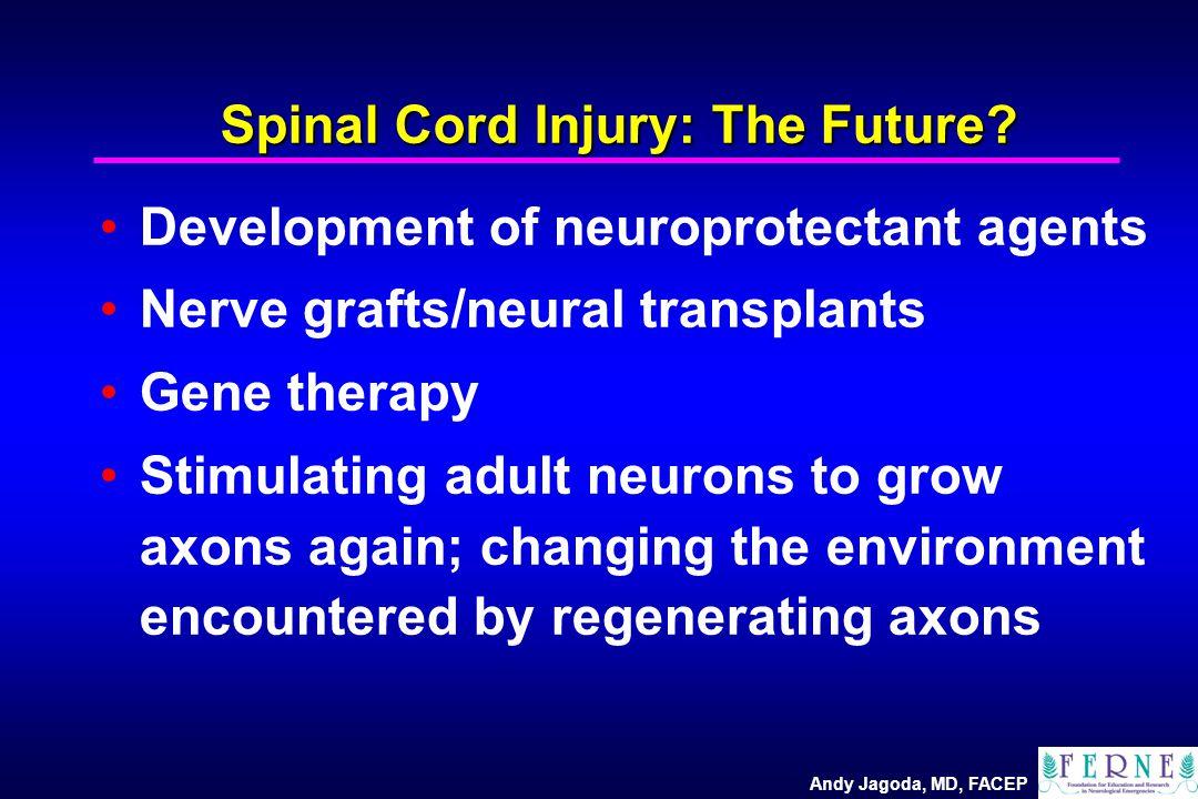 Andy Jagoda, MD, FACEP Spinal Cord Injury: The Future.