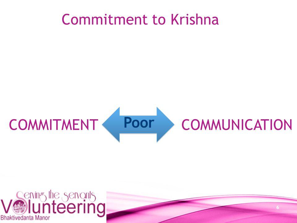 7 Commitment Attitude to work Discipline Sympathetic/considerate Collaboration/Teamwork Values Commitment to Krishna