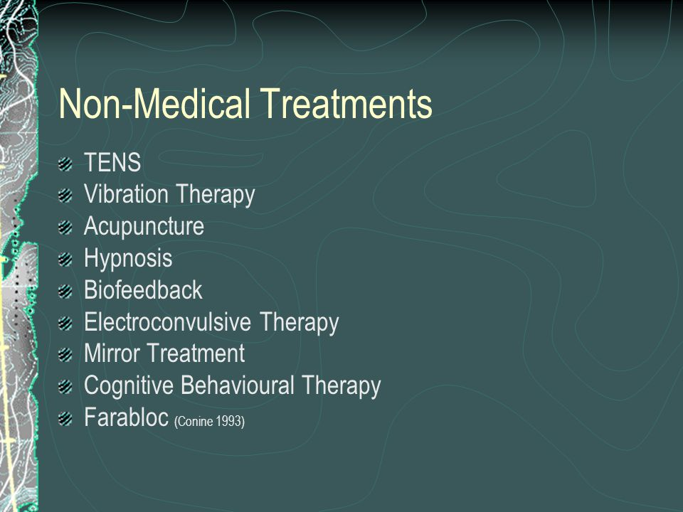 Treatment Approach Somatic Pain – non-pharm, simple analgesics, NSAIDs, tramadol, opioids Neuropathic/Phantom Limb Pain – follow neuropathic pain principles – Non-pharm, TCA's, anticonvulsants, local anaesthetics