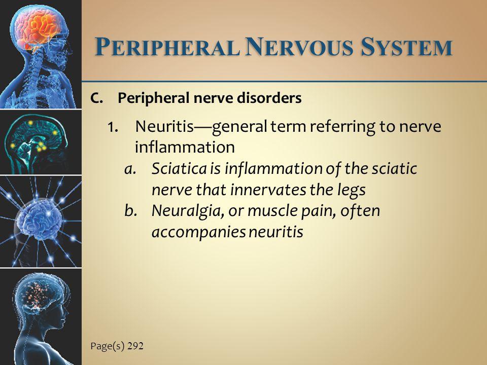 P ERIPHERAL N ERVOUS S YSTEM C.Peripheral nerve disorders 1.