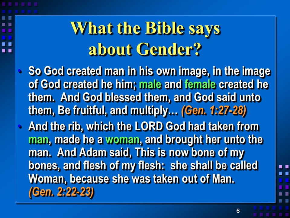 6 What the Bible says about Gender.