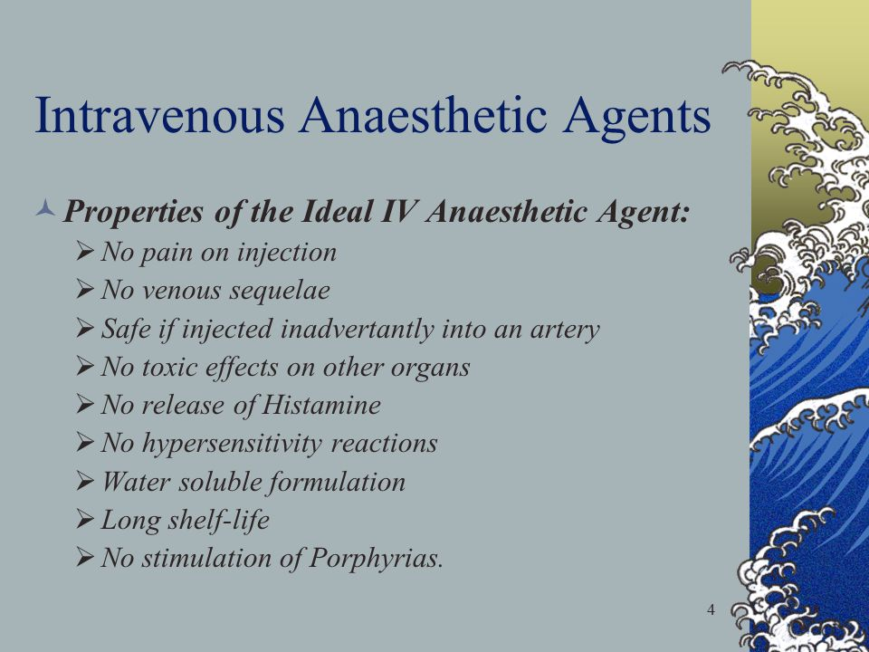 5 Intravenous Anaesthetic Agents Pharmacokinetics of IV Anaesthetic Agents: After IV  rapid  in plasma conc.