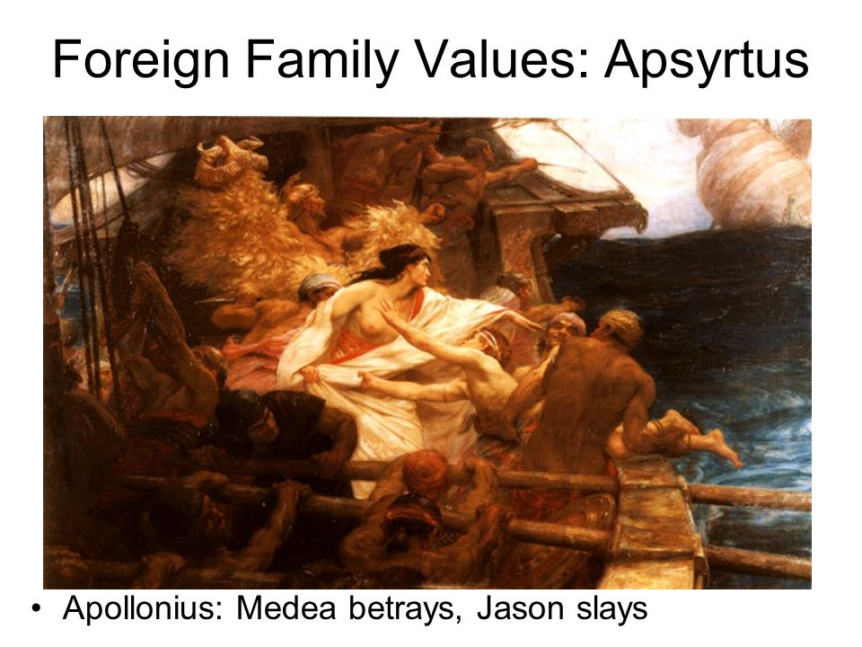 Foreign Family Values: Apsyrtus Apollonius: Medea betrays, Jason slays