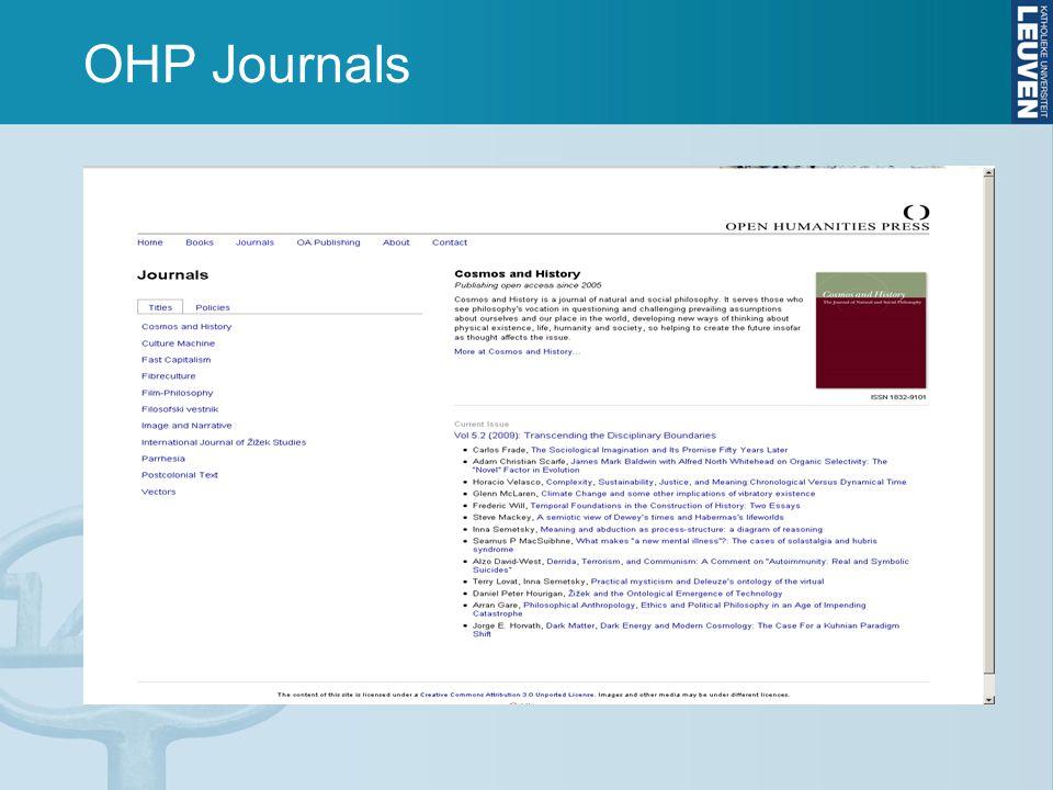 OHP Journals