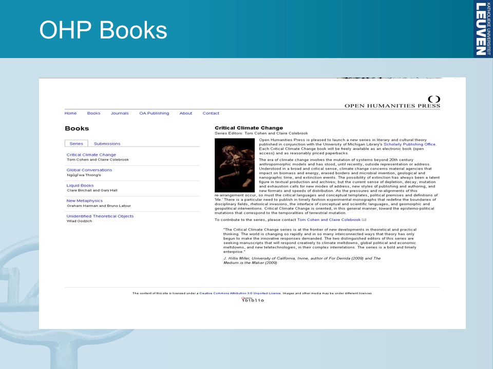 OHP Books