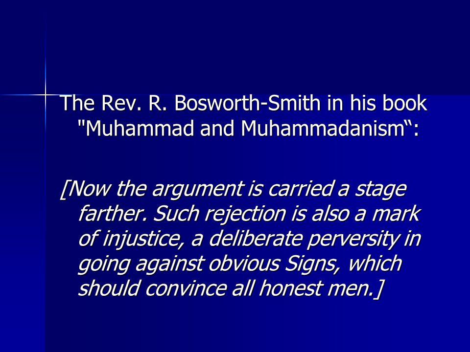The Rev. R. Bosworth-Smith in his book