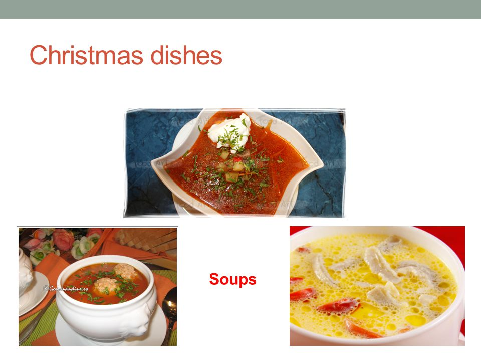 Christmas dishes Soups