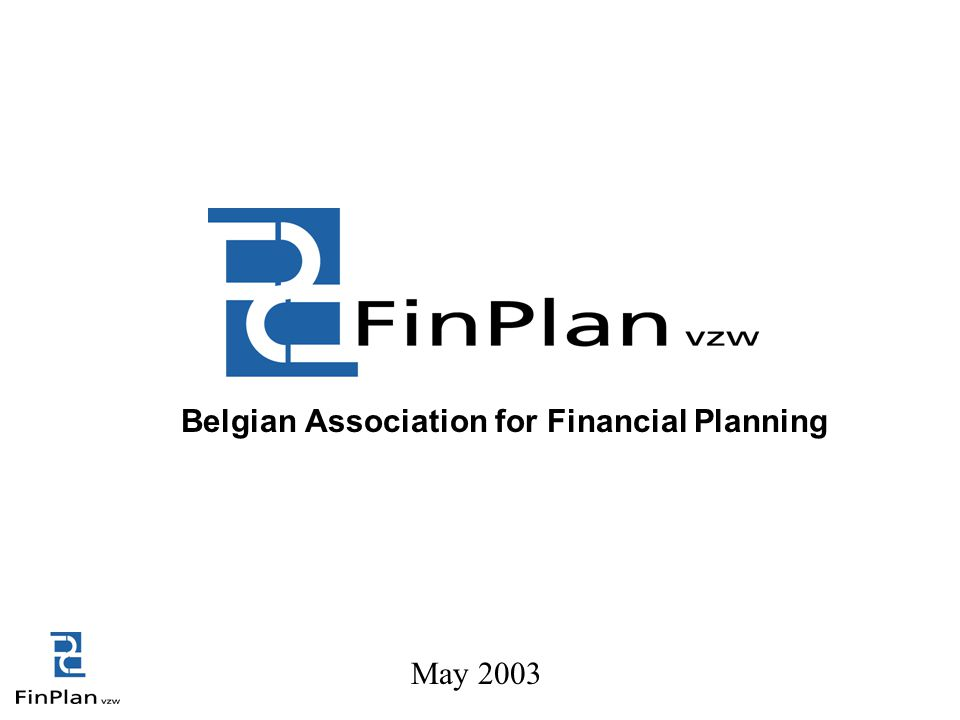 Belgian Association for Financial Planning May 2003