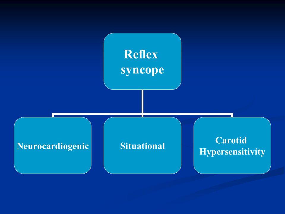 Reflex syncope NeurocardiogenicSituational Carotid Hypersensitivity