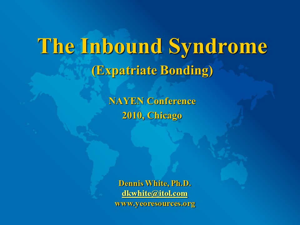 So it is only natural that when confronted with all of these difficult differences, Inbounds will look for anything or anyone that will help them feel more comfortable.