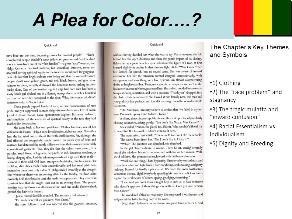 A Plea for Color…..