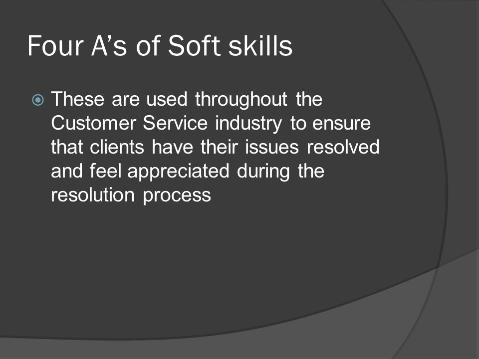 Four A's of Soft Skills