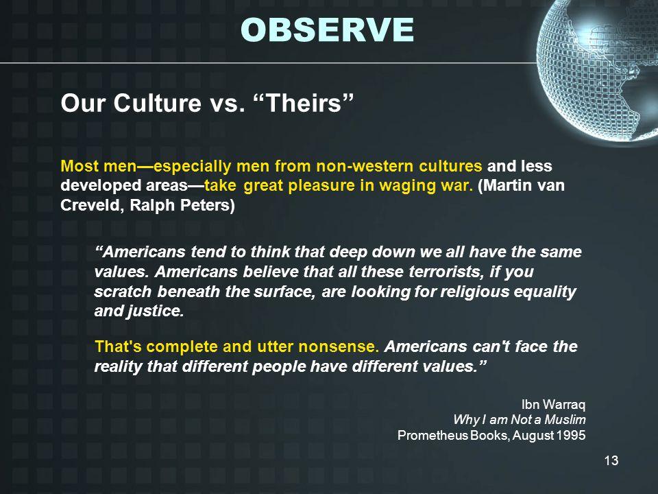 13 Our Culture vs.