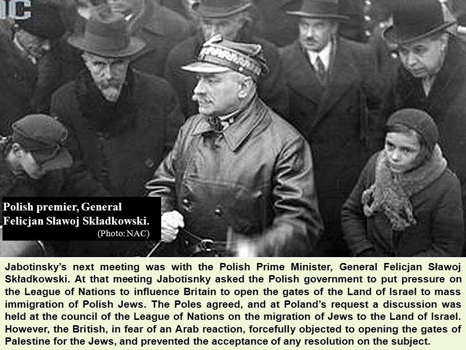Polish premier, General Felicjan Sławoj Składkowski.