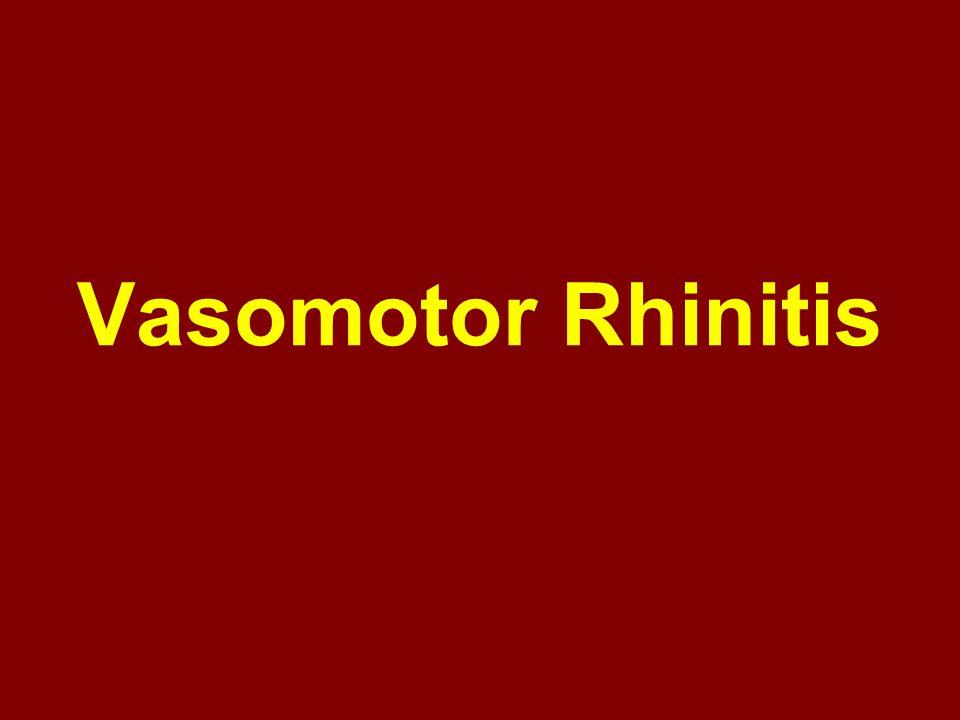 Vasomotor Rhinitis