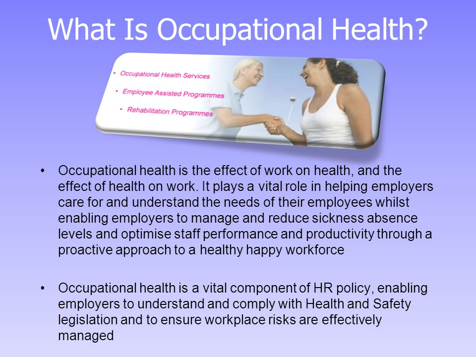What Is Occupational Health.