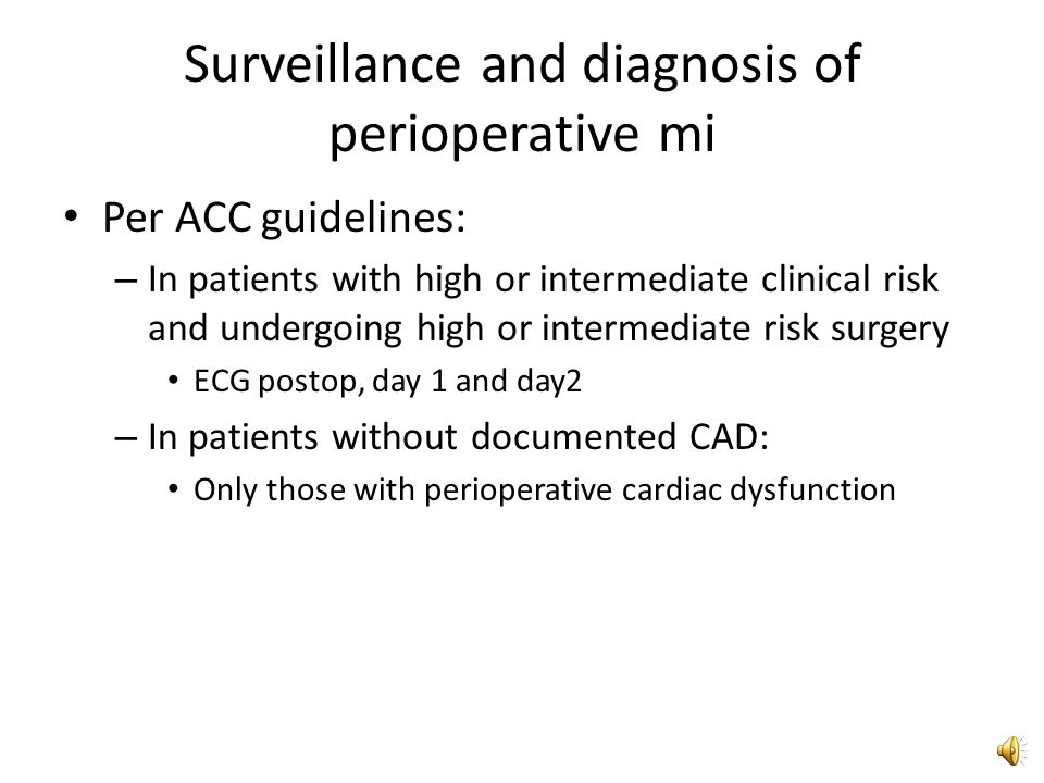 2009 ACCF/AHA Focused Update on Perioperative Beta Blockade So only those patients already on beta-blockade or those of high risk who can have their beta- blocker titrated to effect Why.