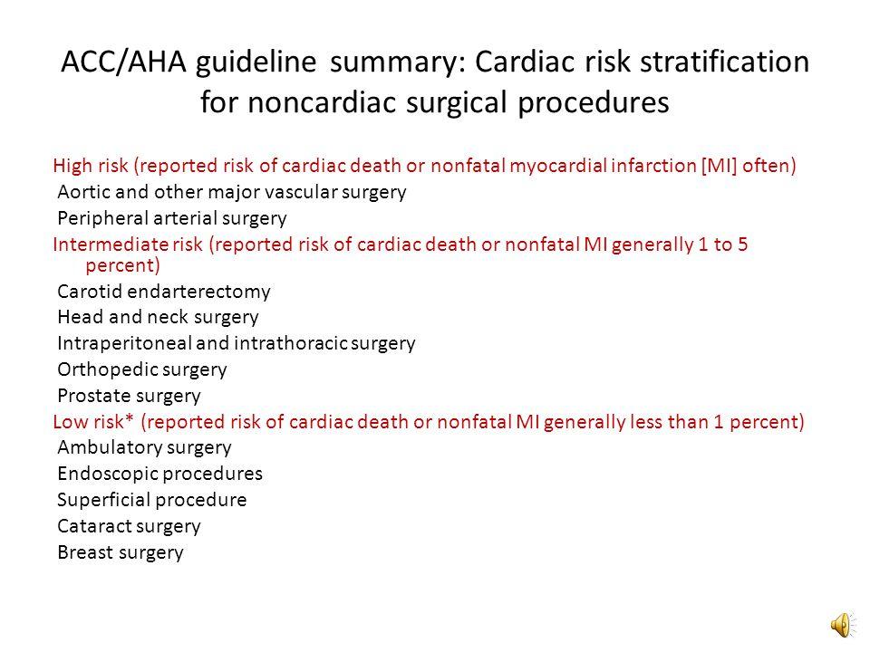 Cardiac evaluation and care algorithm for noncardiac surgery