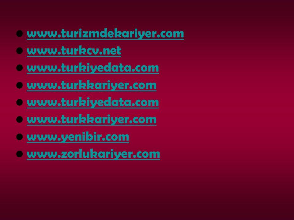 www.turizmdekariyer.com www.turkcv.net www.turkiyedata.com www.turkkariyer.com www.turkiyedata.com www.turkkariyer.com www.yenibir.com www.zorlukariye