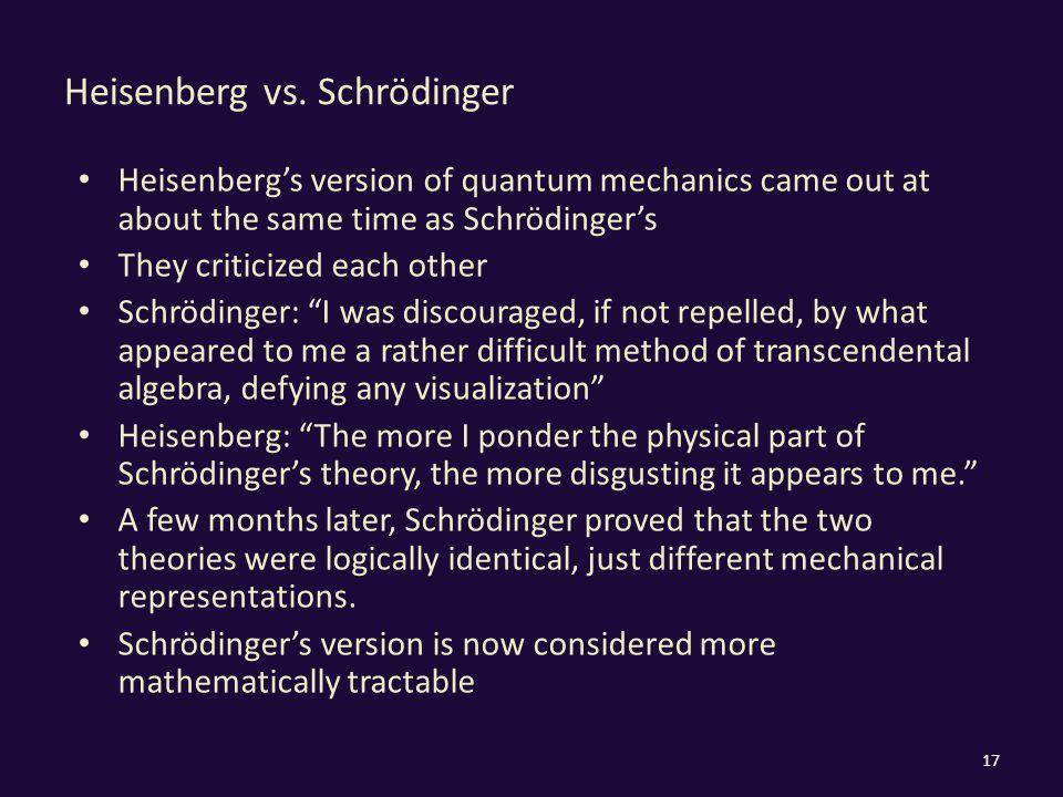 Heisenberg vs.