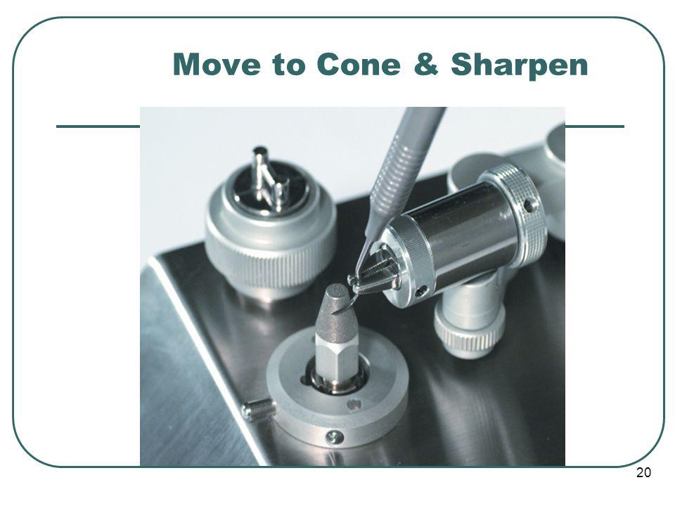 20 Move to Cone & Sharpen