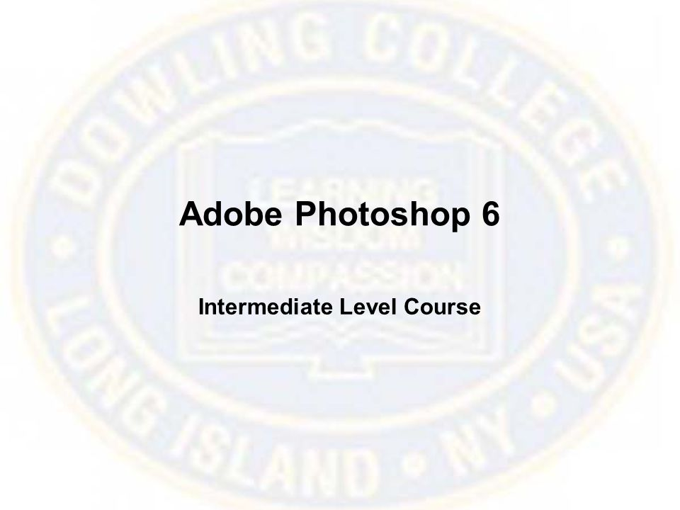 Adobe Photoshop 6 Intermediate Level Course