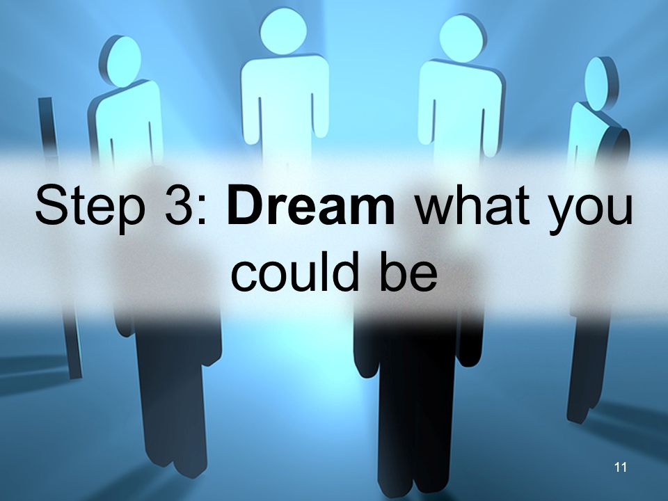 11 Step 3: Dream what you could be
