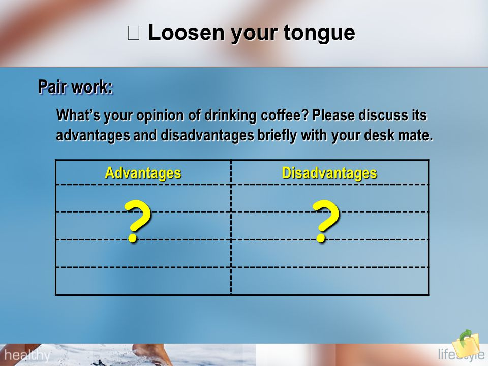 What's your opinion of drinking coffee.
