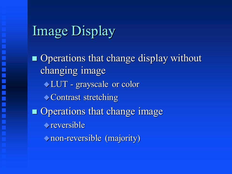 Image Display - LUT change