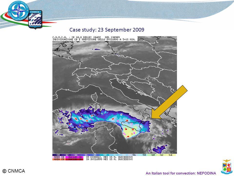 © CNMCA An Italian tool for convection: NEFODINA Case study: 23 September 2009