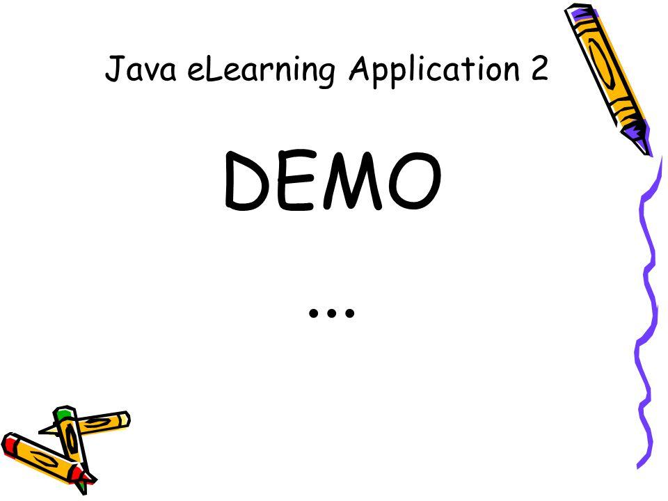 Java eLearning Application 2 DEMO...