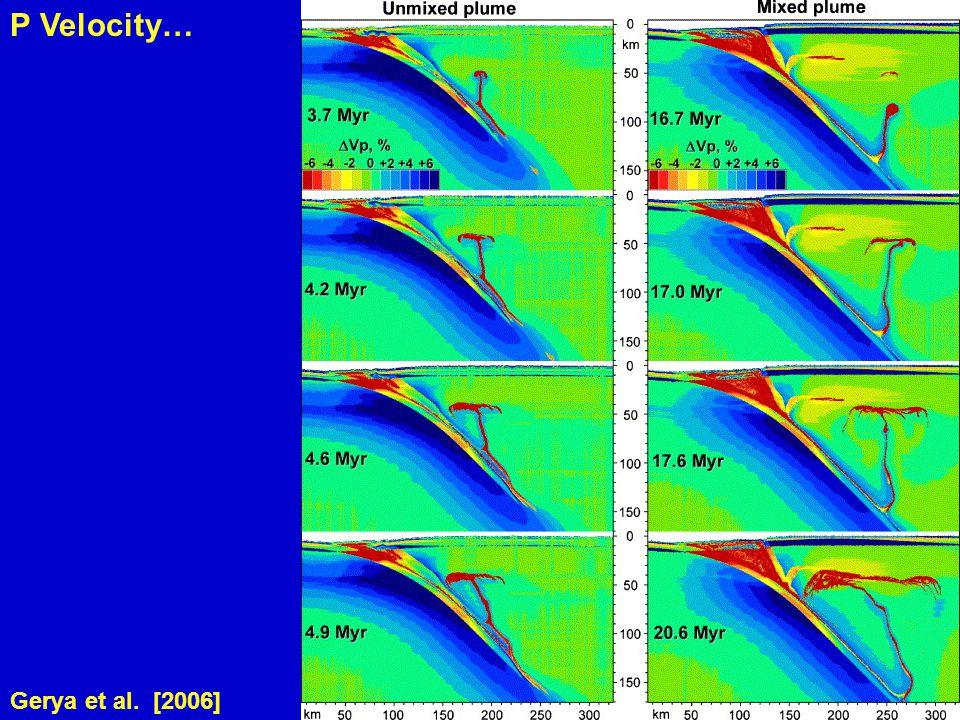 Gerya et al. [2006] P Velocity…