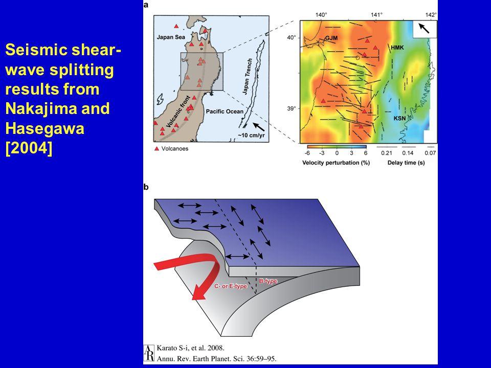 Seismic shear- wave splitting results from Nakajima and Hasegawa [2004]