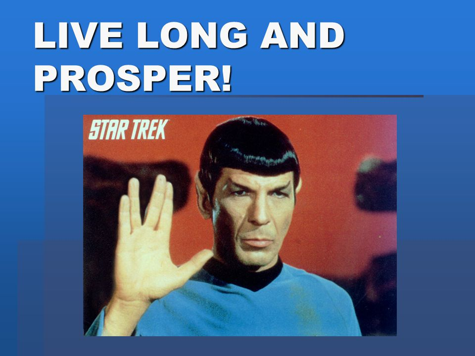 Spock says: Embrace the New, Collective Frontier!