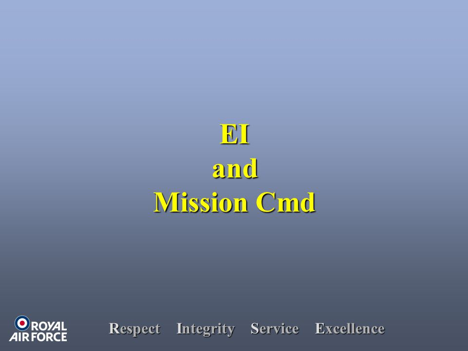 Respect Integrity Service Excellence EIand Mission Cmd