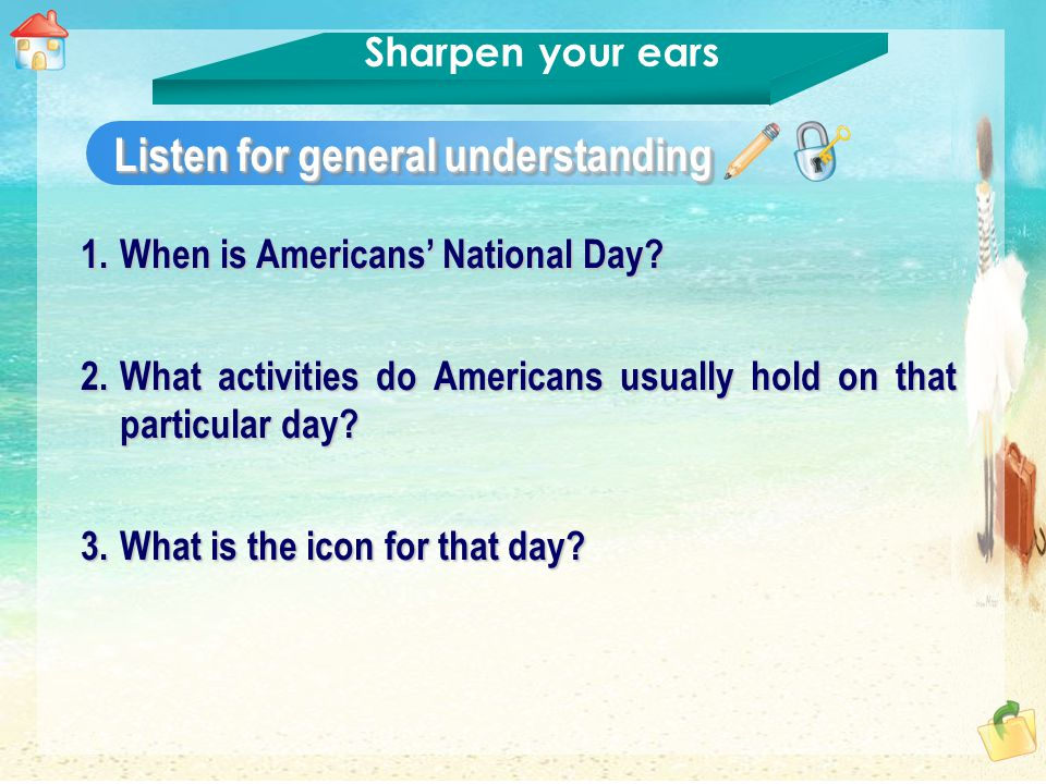 1.When is Americans' National Day.