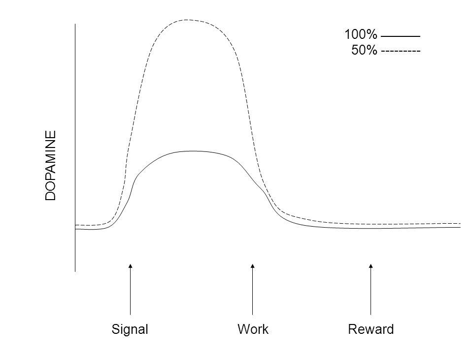 DOPAMINE 100% ________ 50% --------- SignalWorkReward